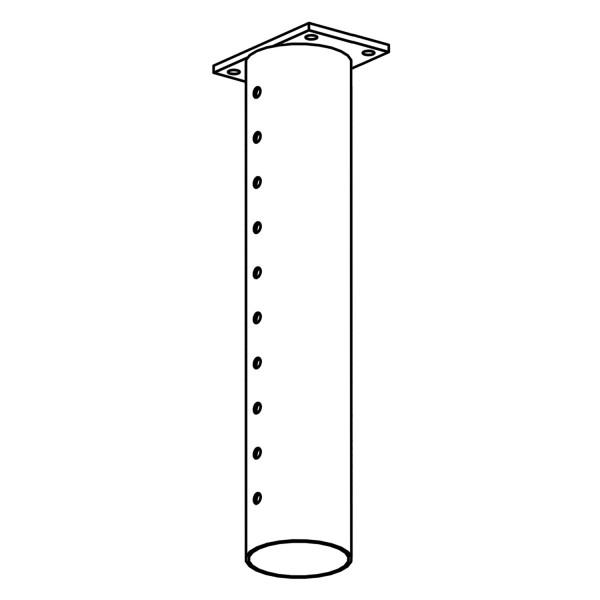 bellissa Pfostenhülse columella 60 cm verstellbar für Dachaufbau inkl. Schrauben