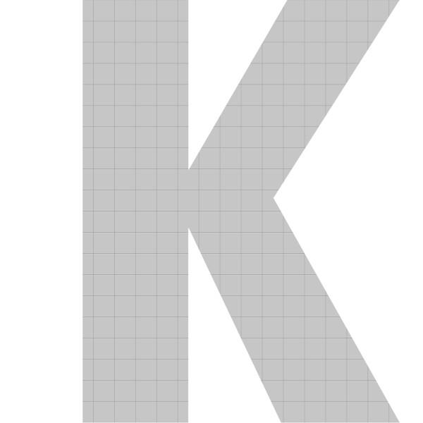 bellissa Buchstabengabione K 100x75x21 cm