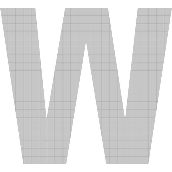 bellissa Buchstabengabione W 100x120x21 cm