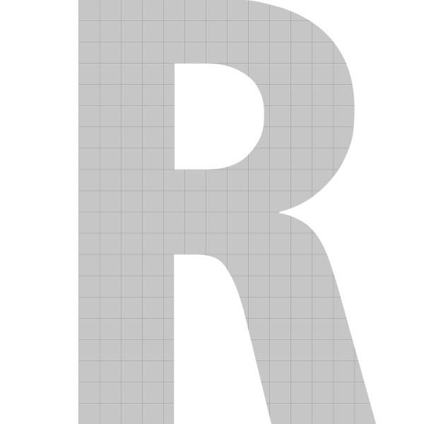 bellissa Buchstabengabione R 100x72x21 cm