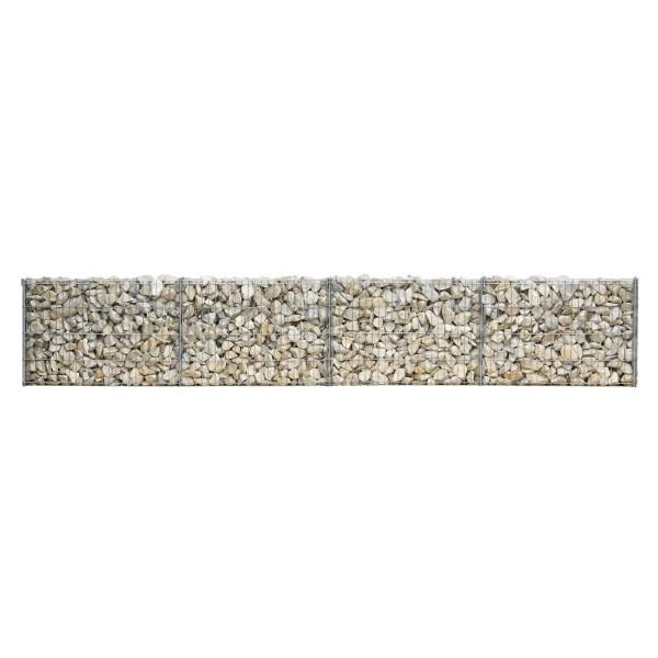 bellissa Mauergitter für gerade u. geschwungene Mauern L232xH40xT10 cm