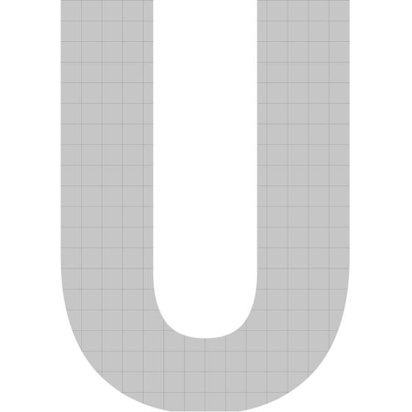 bellissa Buchstabengabione U 100x72x21 cm