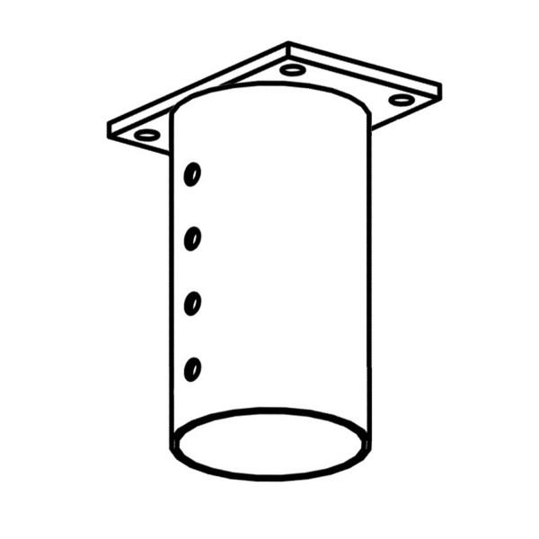 bellissa Pfostenhülse columella 25 cm verstellbar für Dachaufbau inkl. Schrauben