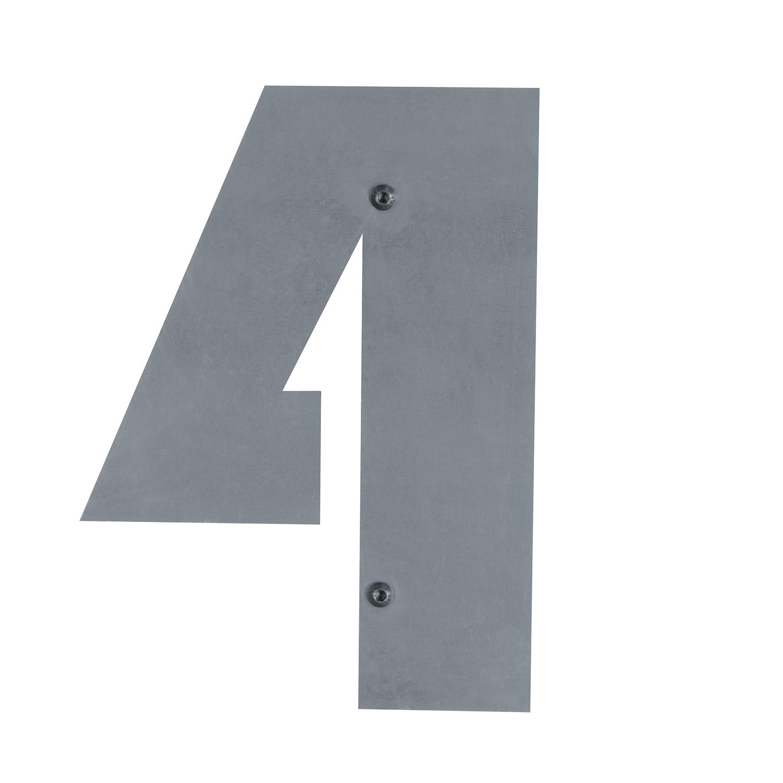 bellissa Corten-Hausnummer 0-97330 17 x 25 cm gelasert zum Anbringen an Gabionen Ziffer aus Cortenstahl