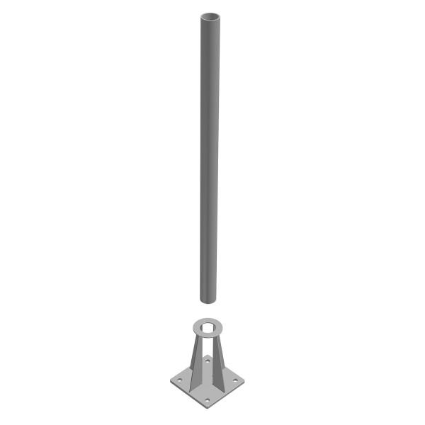 bellissa Schraubflansch für Ø 42,4 mm verzinktes Rohr LxBxH 150x100x201 mm