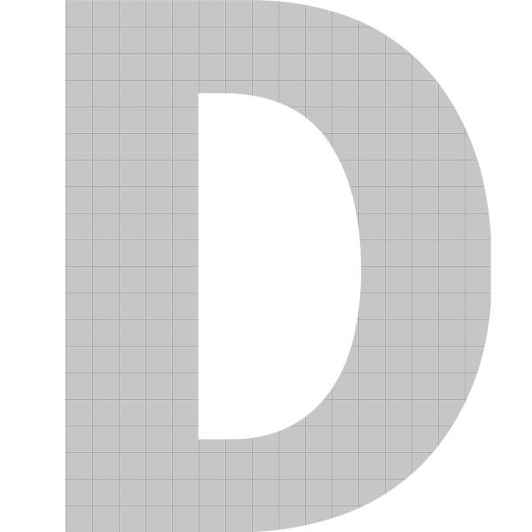 bellissa Buchstabengabione D 100x80x21 cm