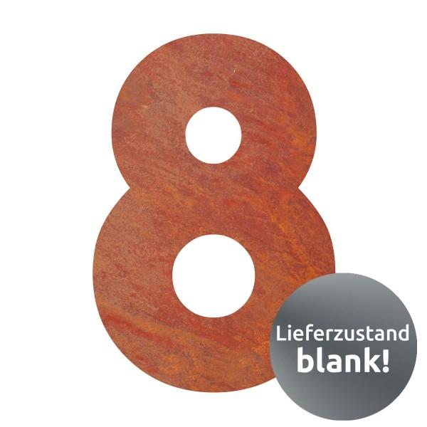 bellissa Hausnummer Corten gelasert Nr. 8 17x25x0,2 cm
