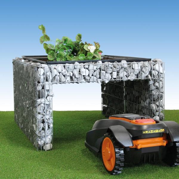 bellissa Mährobotergarage Durchfahrt, bepflanzbar 85x95x53 cm