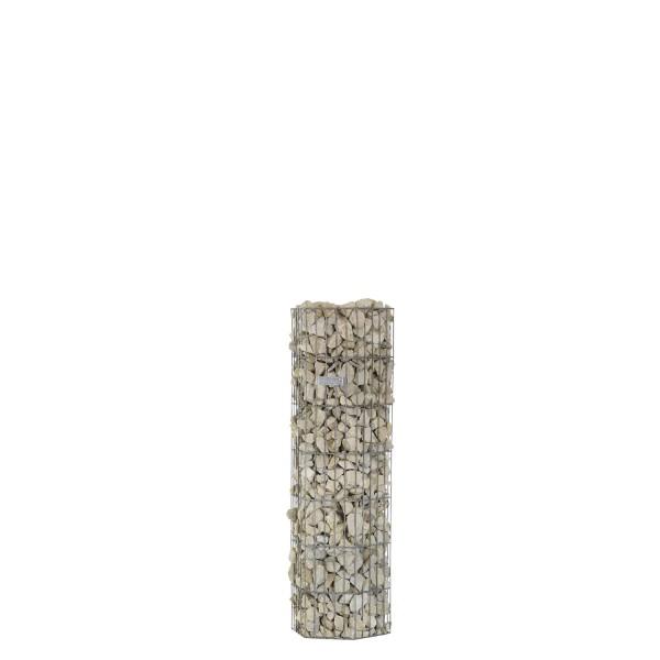 bellissa Steinsäule Gabione pronto 6-Eck 105 cm mit Pfosten 34,5x30x105 cm