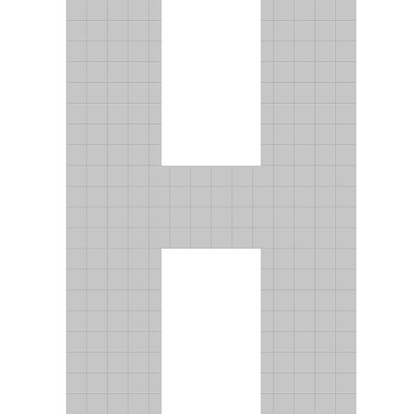 bellissa Buchstabengabione H 100x70x21 cm
