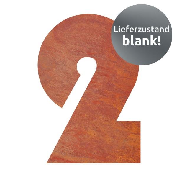 bellissa Hausnummer Corten gelasert Nr. 2 17x25x0,2 cm