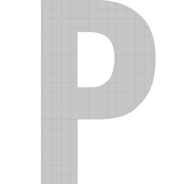 bellissa Buchstabengabione P 100x65x21 cm