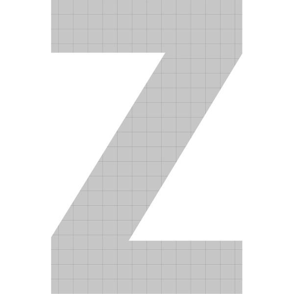 bellissa Buchstabengabione Z 100x65x21 cm