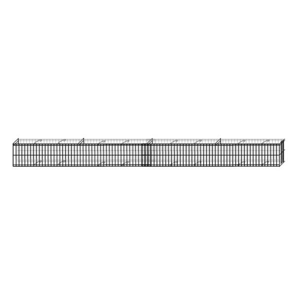 bellissa Mauergitter für geschwungene Mauern L464xH20xT10 cm inkl. Bodenanker