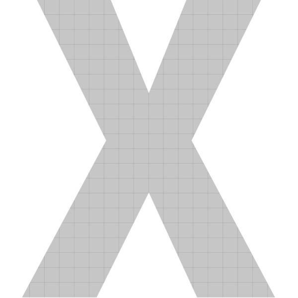 bellissa Buchstabengabione X 100x85x21 cm