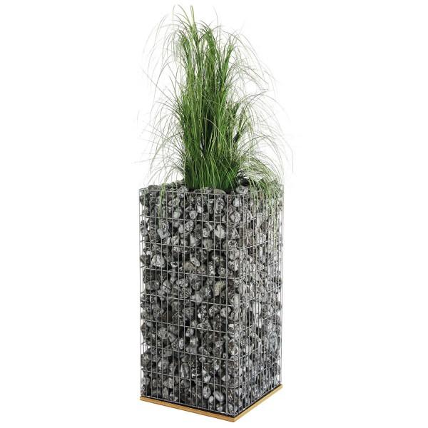 bellissa Gabionen Pflanzsäule 40x40x80 cm inkl. Bewässerungssystem und Substratbeutel