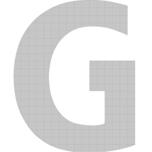 bellissa Buchstabengabione G 100x77,5x21 cm