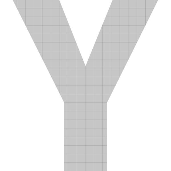 bellissa Buchstabengabione Y 100x85x21 cm