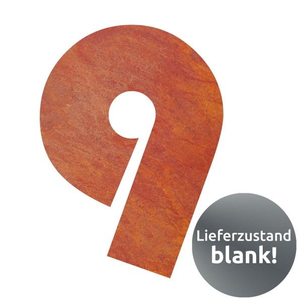bellissa Hausnummer Corten gelasert Nr. 9 17x25x0,2 cm