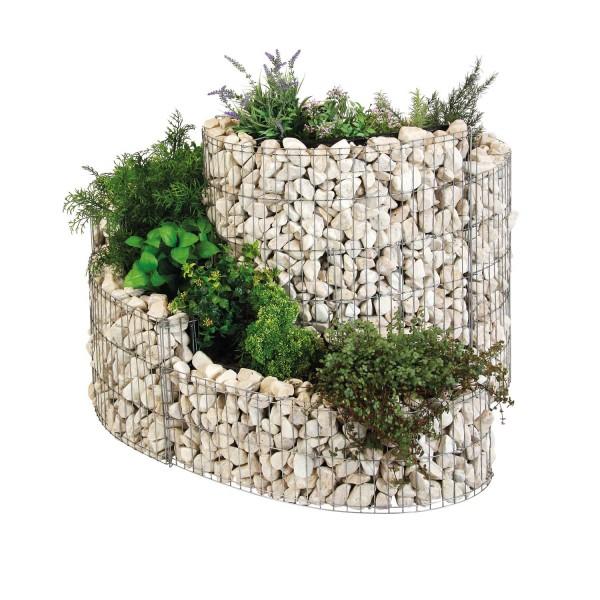 bellissa Kräuterspirale Komplett-Set Lieferung mit Steinen und aufgebaut 110x90x60-20 cm