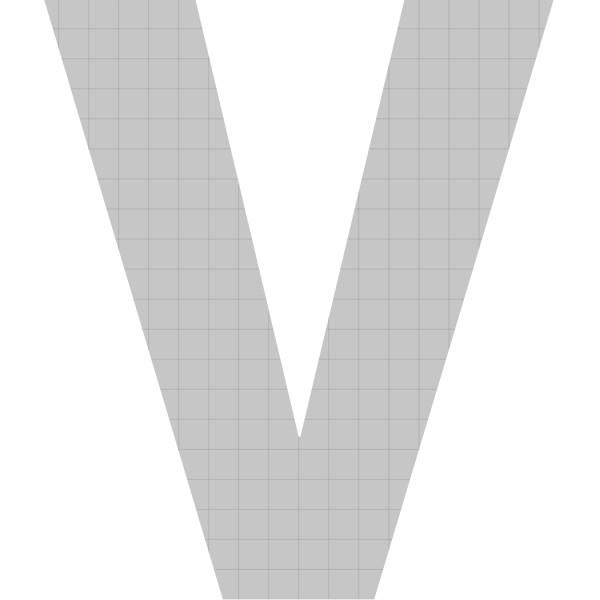 bellissa Buchstabengabione V 100x85x21 cm